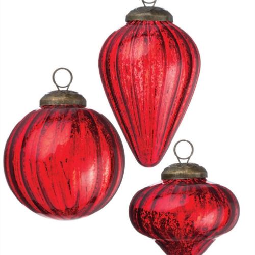 Mini Shapes Red Ornament