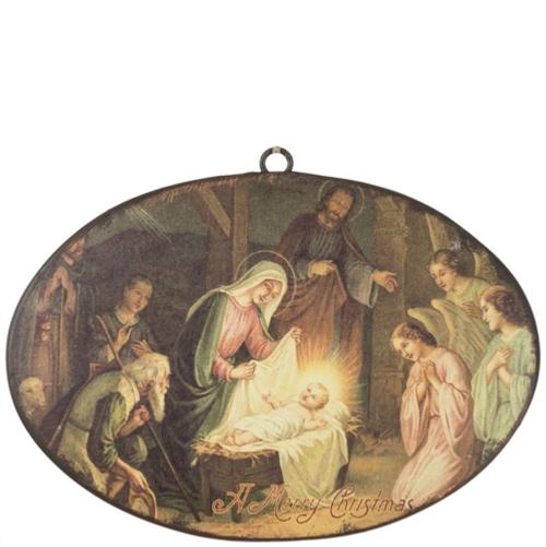 Merry Christmas Nativity Ornament
