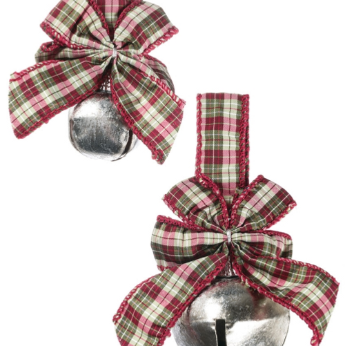 Jingle Bell with Plaid Ribbon