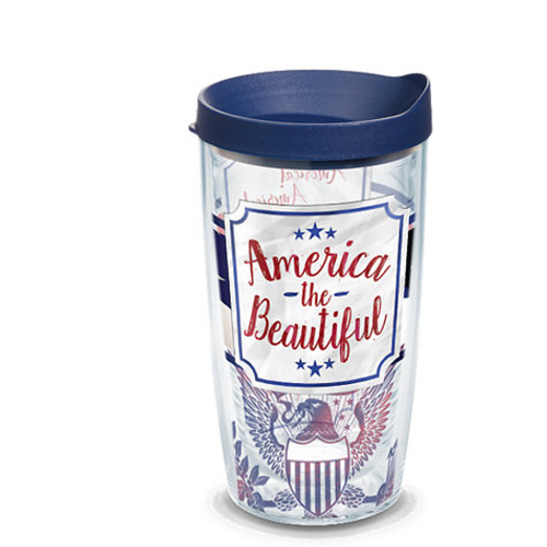 America the Beautiful 16 oz. Tumbler with lid