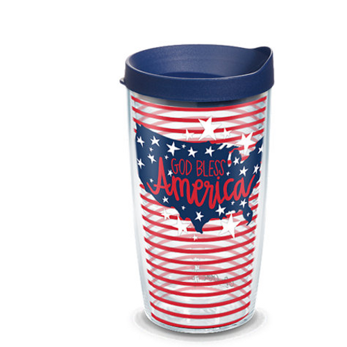 Coton Colors™ - God Bless America 16 oz. Tumbler with lid