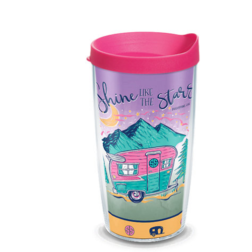 Simply Southern® - Shine Like Stars Camper 16 oz. Tumbler with lid