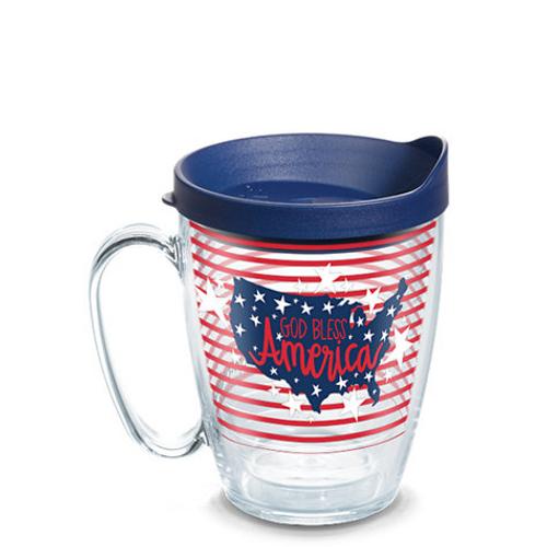 Coton Colors™ - God Bless America Wrap With Travel Lid 16 oz. mug