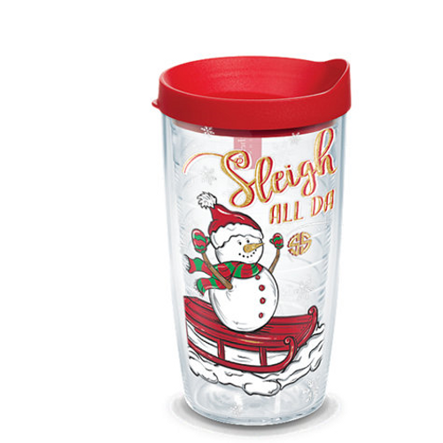 Simply Southern® - Sleigh All Day Wrap With Travel Lid  16 oz. Tumbler