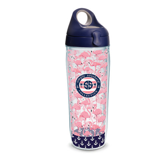 Simply Southern® - Flamingo Wrap With Water Bottle Lid 24 oz.