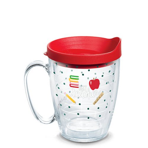 Coton Colors™ - Teacher Wrap With Travel Lid 16 oz mug