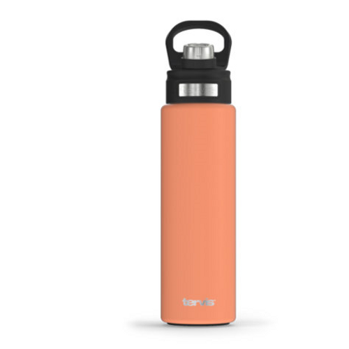 Citrus Sunrise Powder Coated Stainless Steel Wide Mouth Bottle with Deluxe Spout Lid 24 oz.