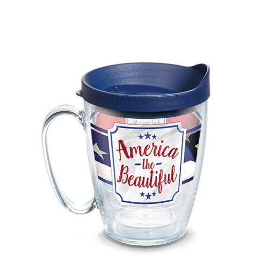 America the Beautiful Wrap With Travel Lid 16oz mug