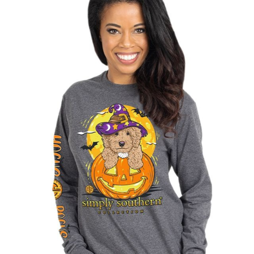 Long Sleeve Hocus Pocus Dark Heather Gray