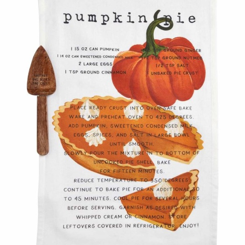 Pumpkin Pie Recipe Towel Set
