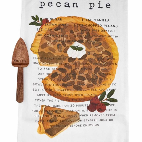 Pecan Pie Recipe Towel Set