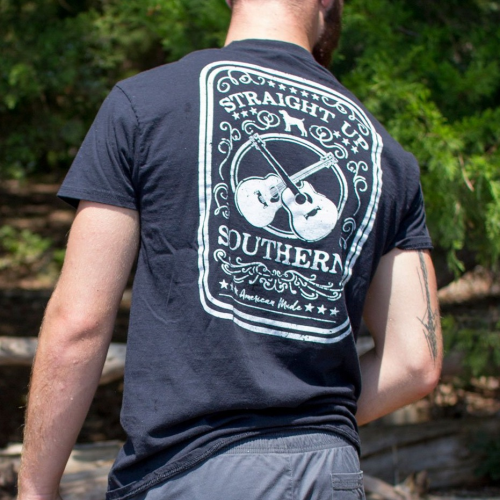 Straight Up Southern Guitars Black Tee