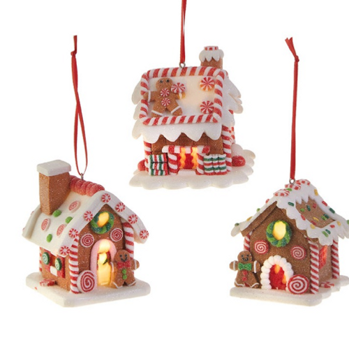 """3.25"""" Lighted Gingerbread House"""