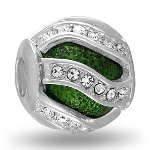 Green Swirl CZ Decorative-Dav