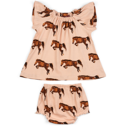 Dress & Bloomer Set Horse 6-12 months