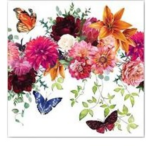 Sweet Floral Melody Hostess Napkin
