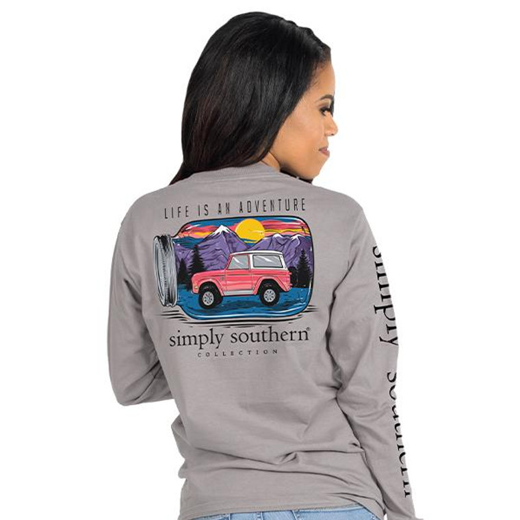 Life is an Adventure Simply Southern Long Sleeve Tee