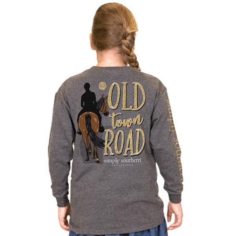 Old Town Road Long Sleeve Simply Southern Tee XXL