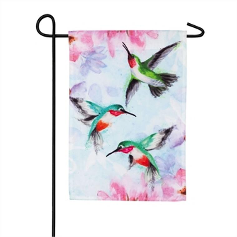 Hummingbirds Garden Organza Flag