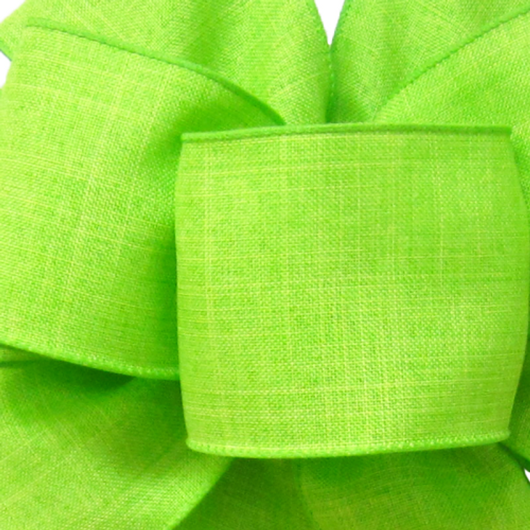 "Ribbon 1.5"" Linen Lime"