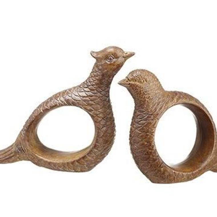 "Pheasant or Quail 3"" Napkin Rings"