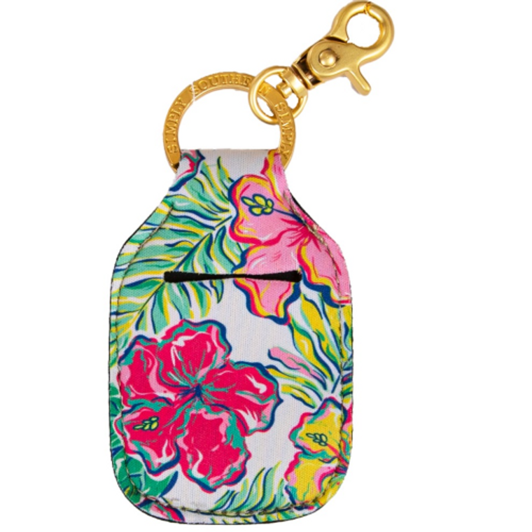 Simply Southern Tropical White Keychain