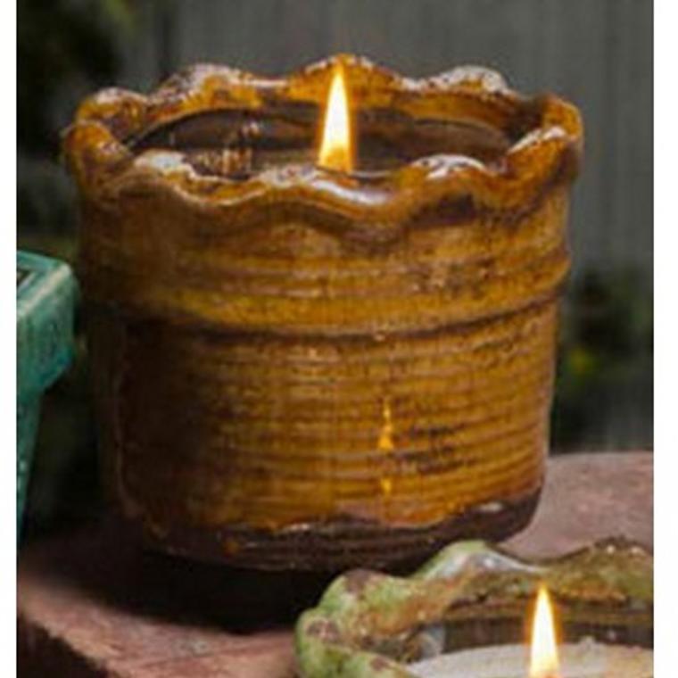 Ruffled Pot Bourb Maple Sugar