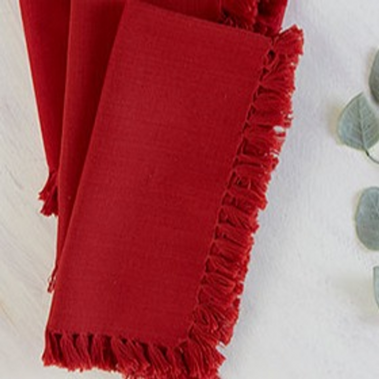 Essential Napkin  Red by April Cornell