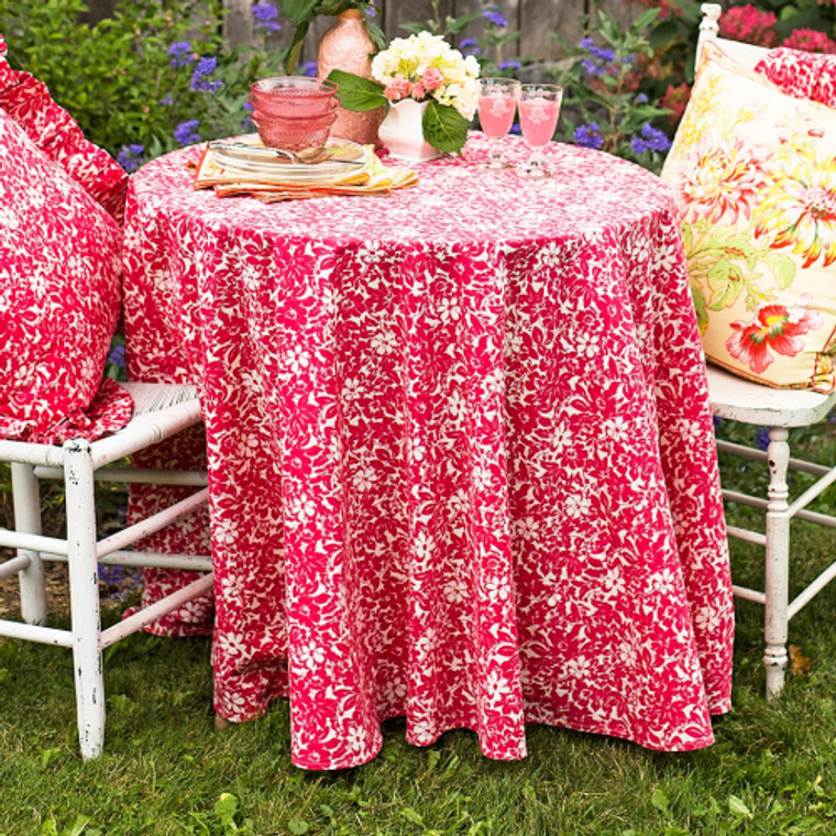 Madison Flower Pink Tablecloth