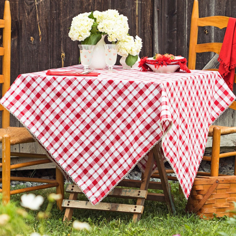 Strawberry Red Tablecloth