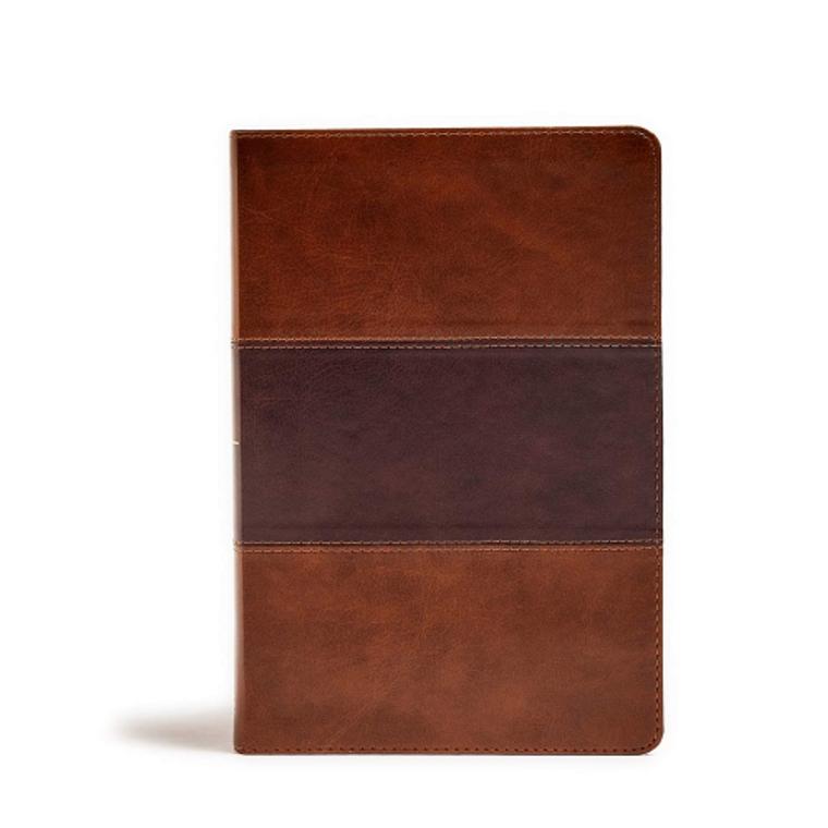 KJV Large Print Per. Size Reference Bible, Saddle Brown