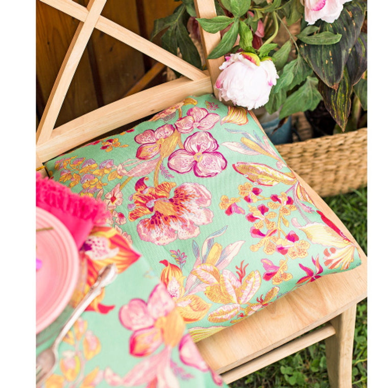 Orchid Study Outdoor Chair Cushions