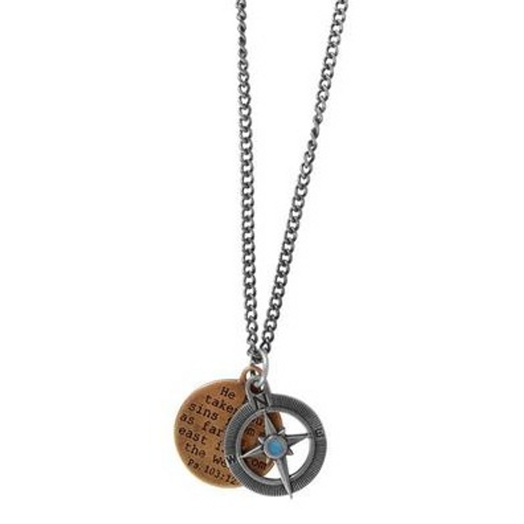 Guy's Necklace Compass
