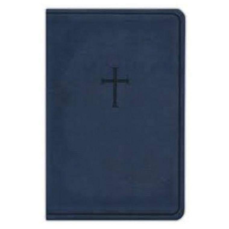 KJV Everyday Study Bible, Navy Cross LeatherTouch