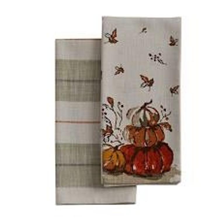 Harvest Pumpkin Towel Set of 2