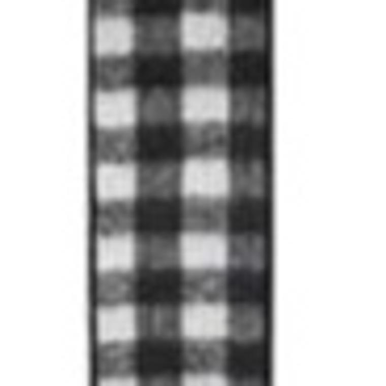 Buffalo Plaid Black & White Ribbon
