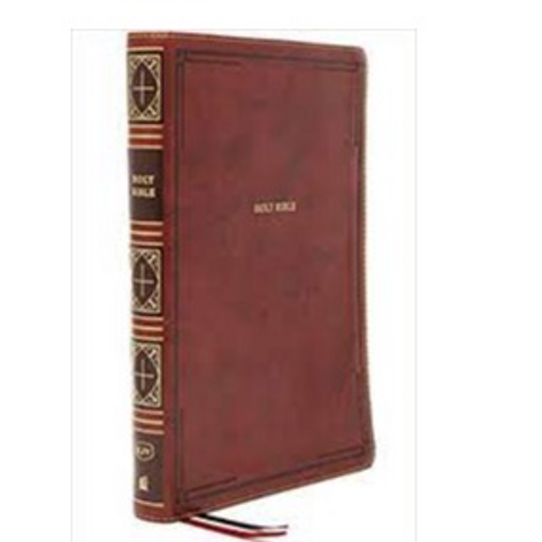 KJV Thinline Giant Print, Brown LeatherTouch, IDX