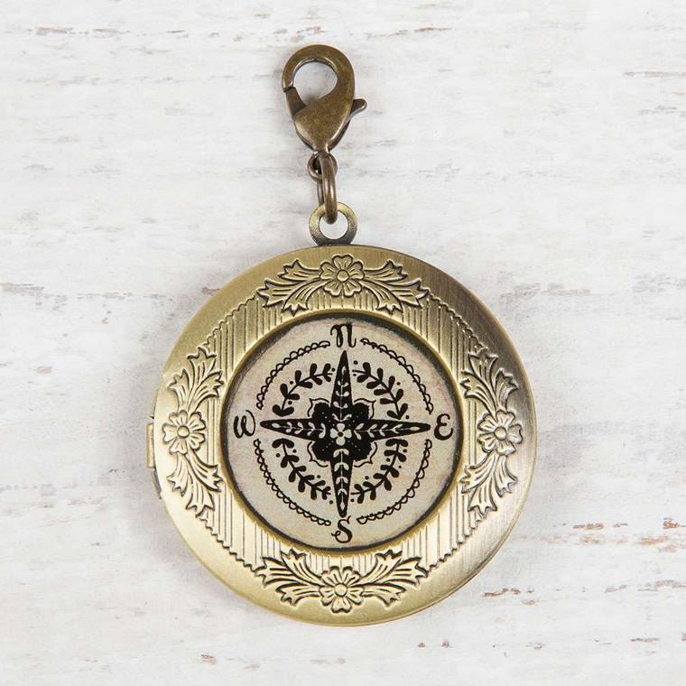 Junk Market Locket - Compass