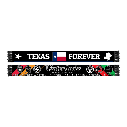 Texas Soccer Supporters Winter Sucks Scarves