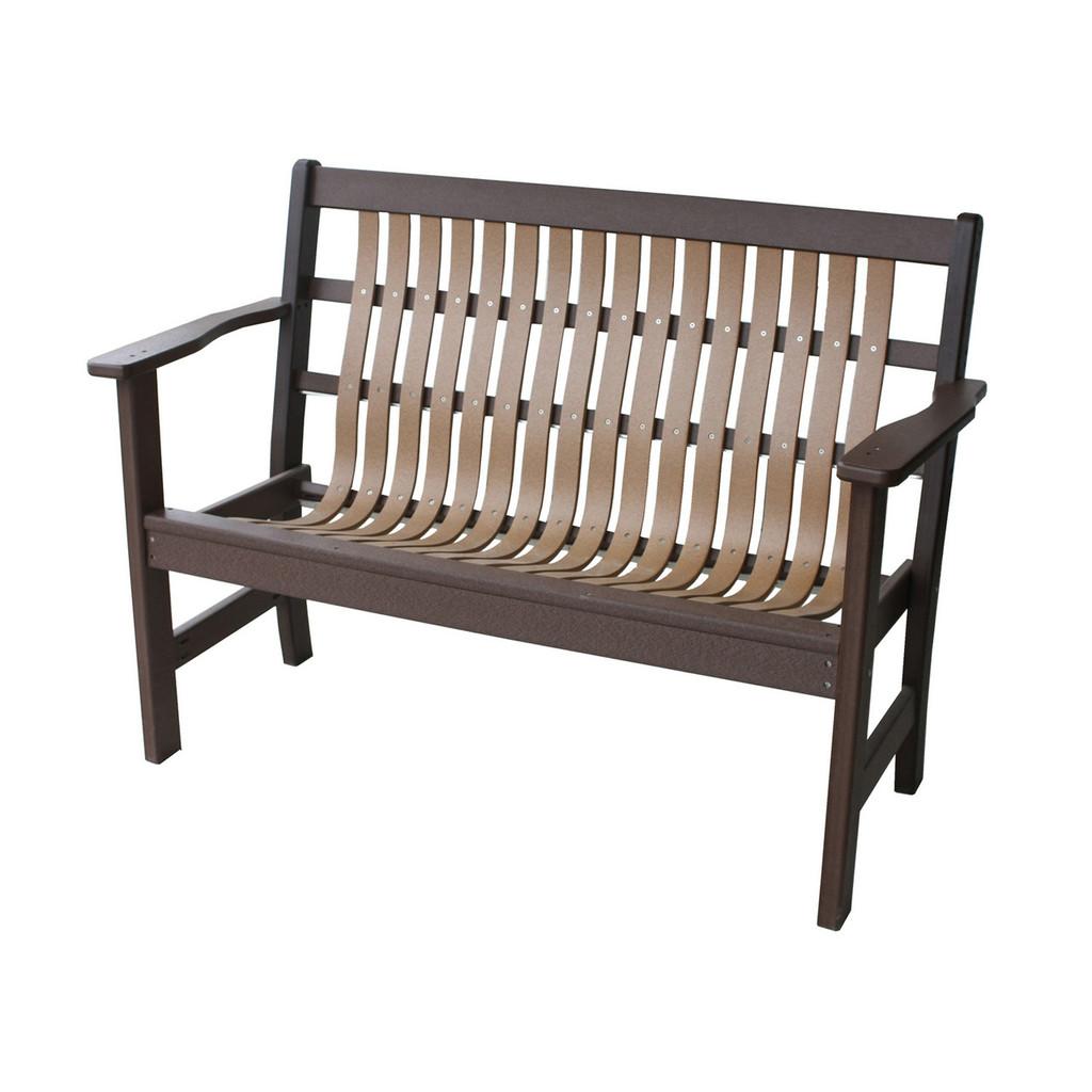 """48"""" Poly Bent Garden Bench"""