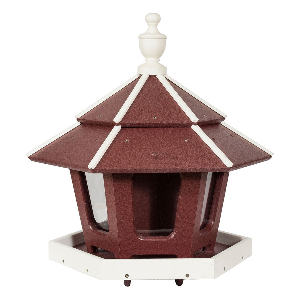 Three Compartment Gazebo Bird Feeder | Bird Feeder Gazebo