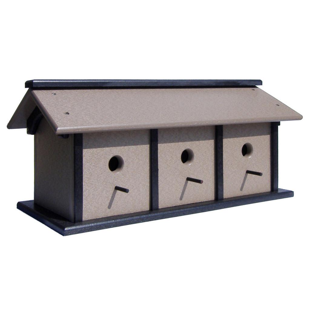Triple Birdhouse | Unique Birdhouse Pole