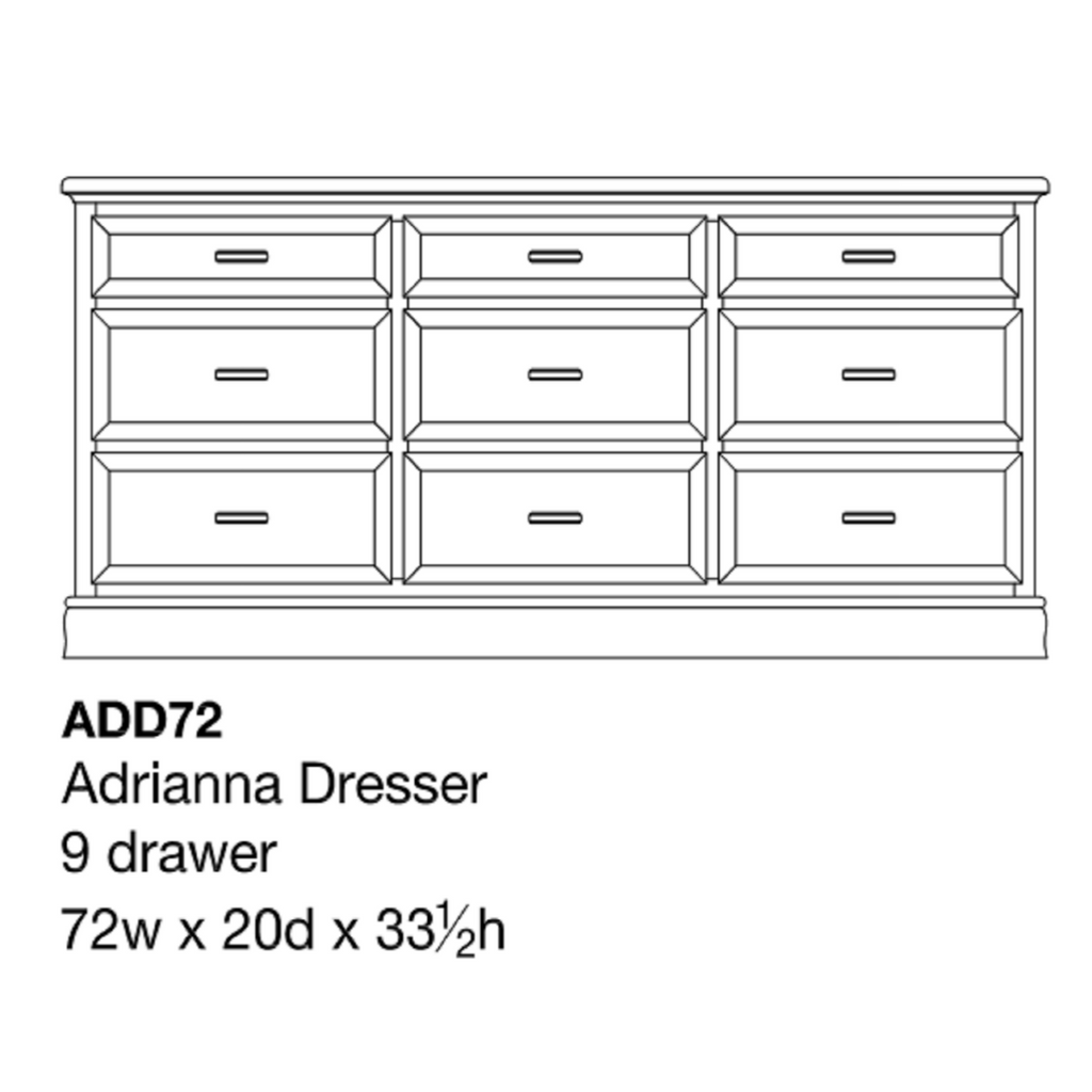 """Adrianna 72"""" Dresser"""