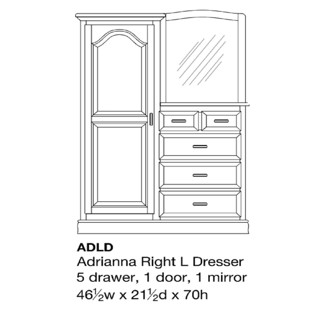 Adrianna Single L-Dresser
