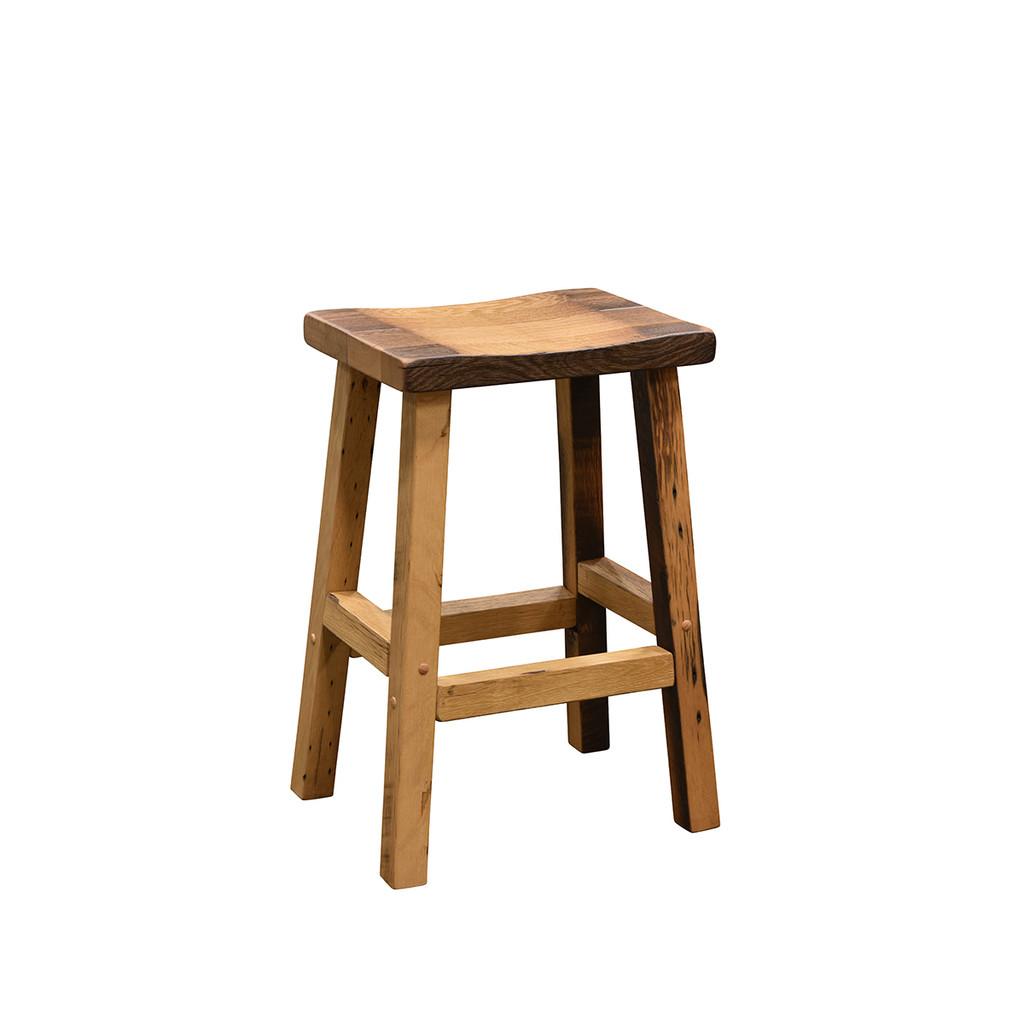 Bar Stool (Barn Wood / Scooped Seat)
