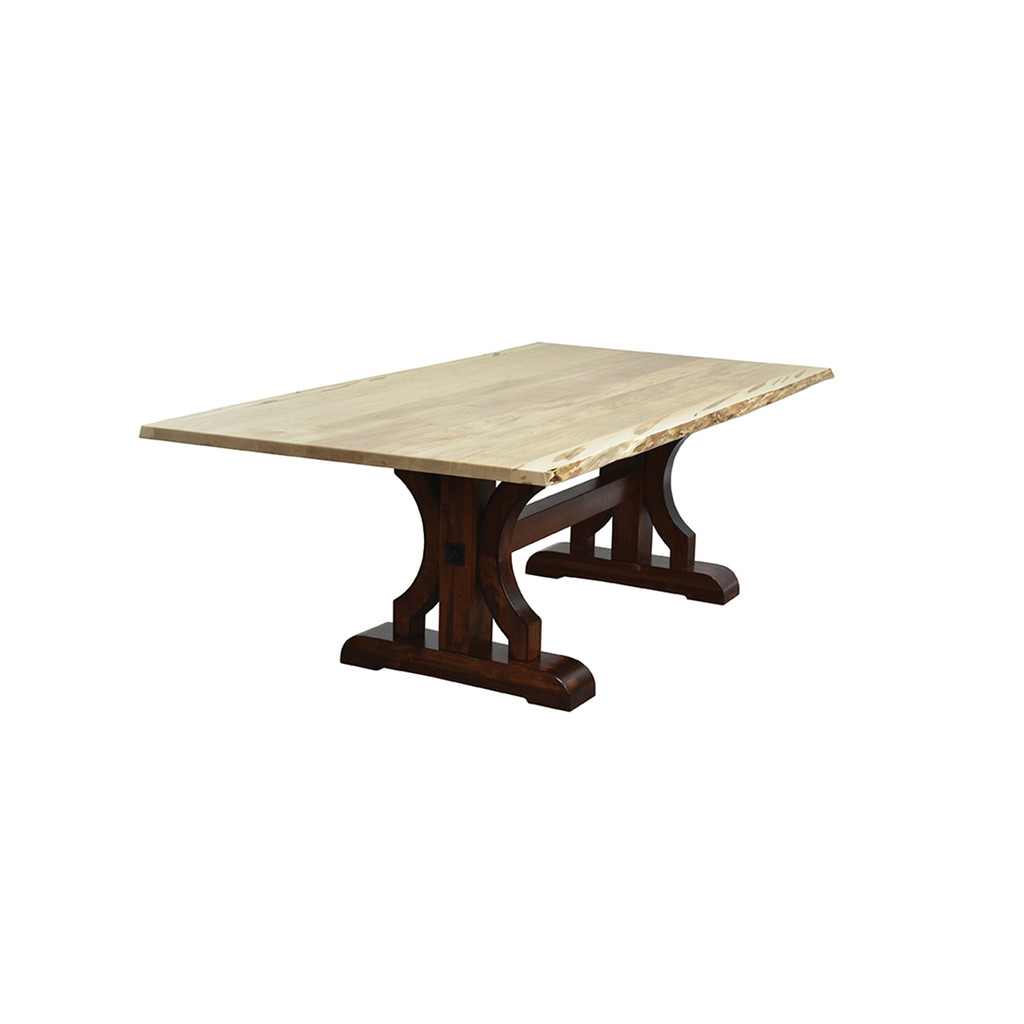 Barstow Trestle Table (Live Edge)