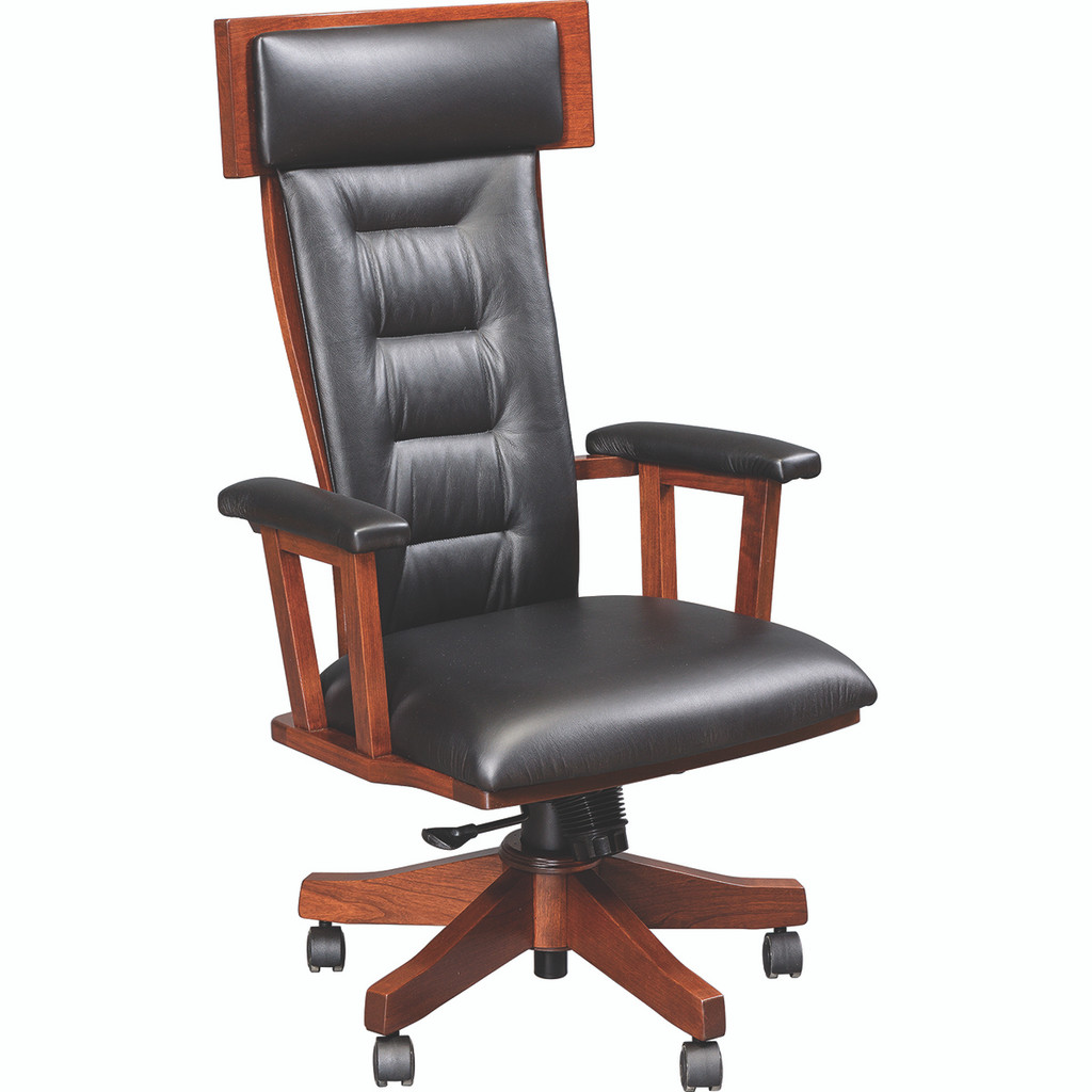 London Arm Desk Chair (Gas Lift)