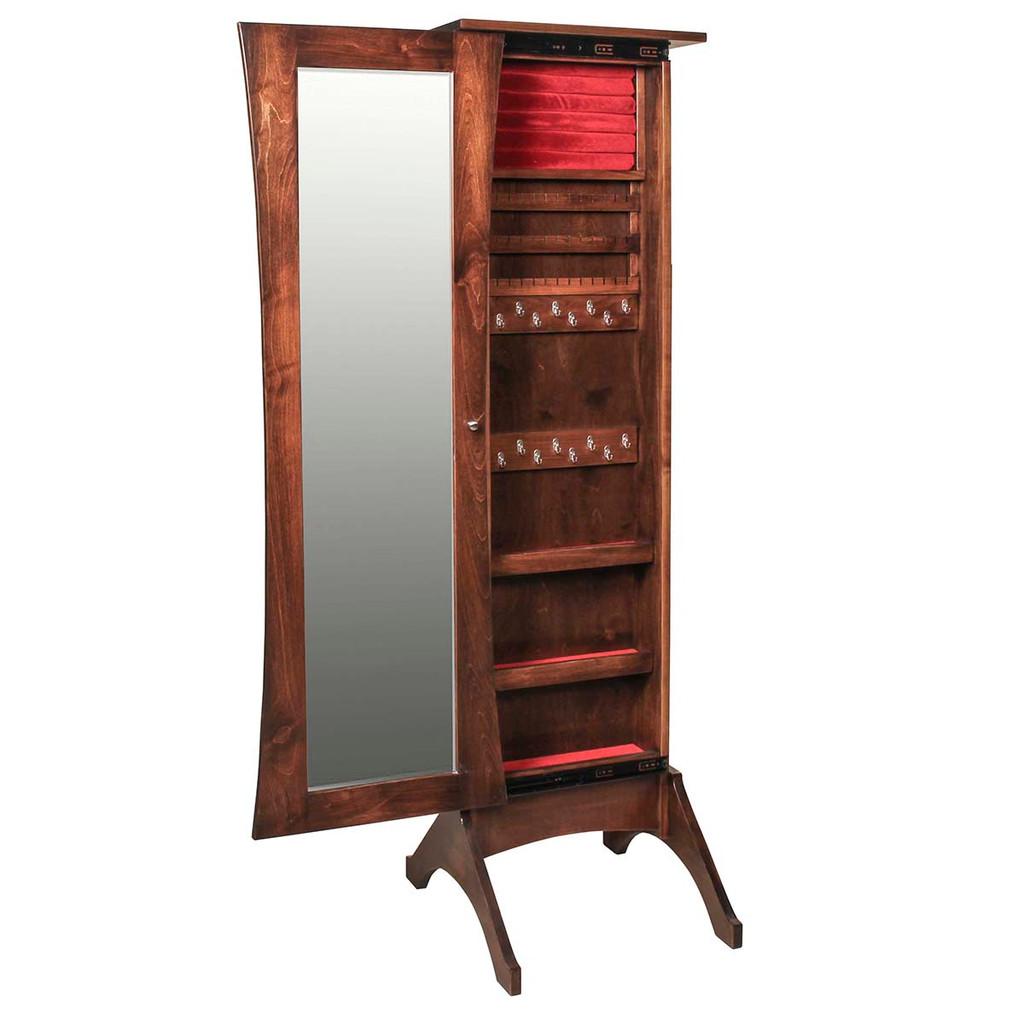 Caledonia Jewelry Mirror (with Sliding Door)
