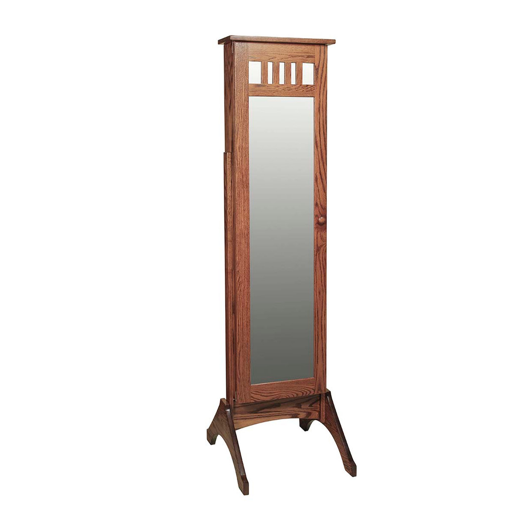 Mission Jewelry Mirror (with Sliding Door)