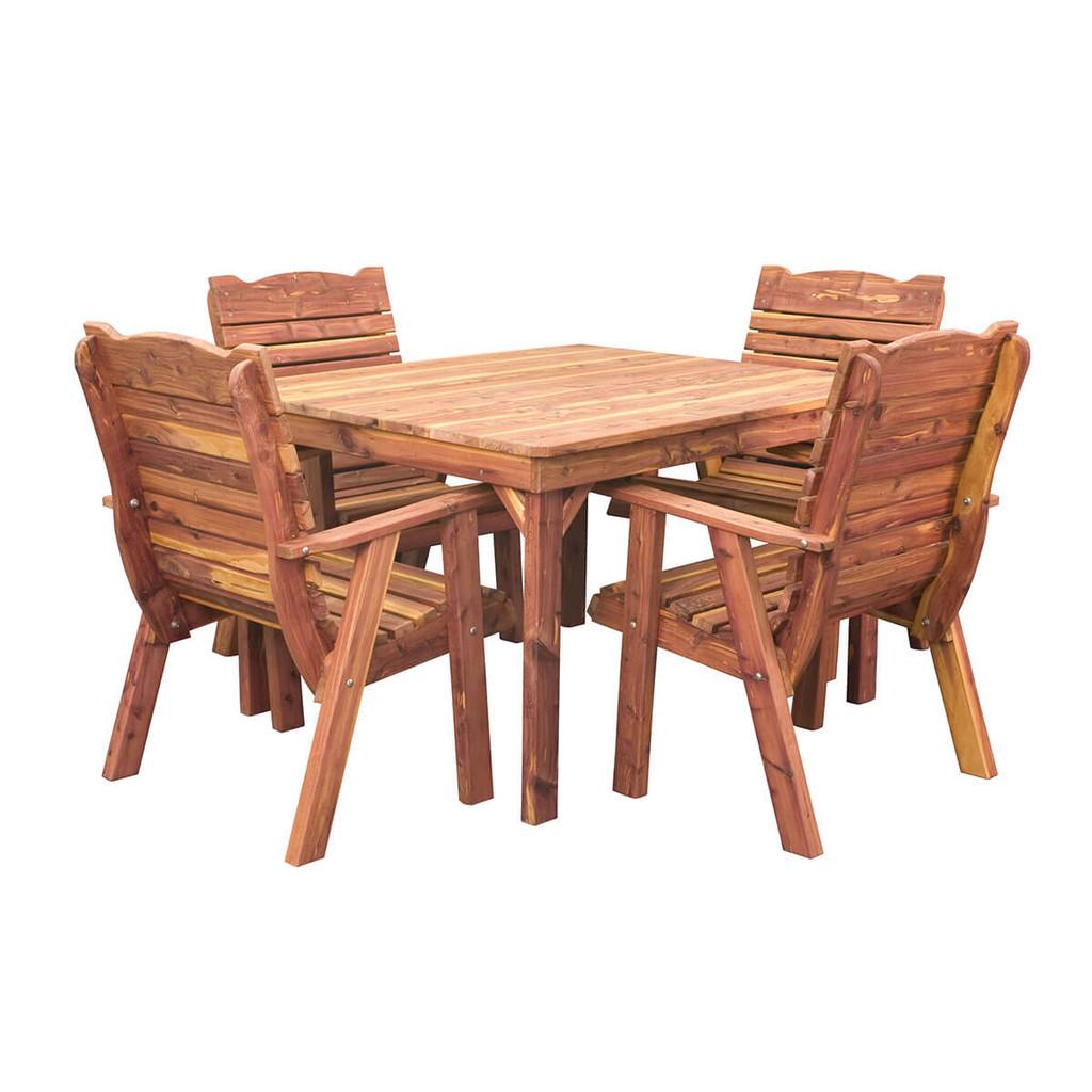 Cedar Dining Table & Chairs Set
